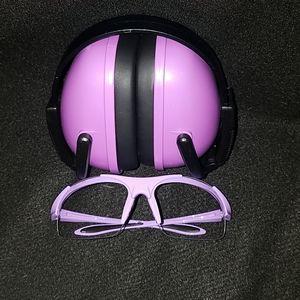 Purple ear a d eye protection kit. NRR 23bD